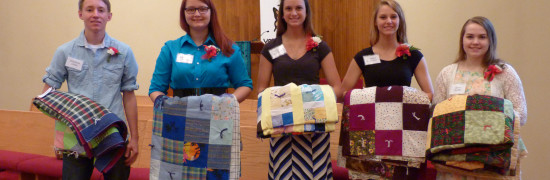 columbus high school graduates receive quilts