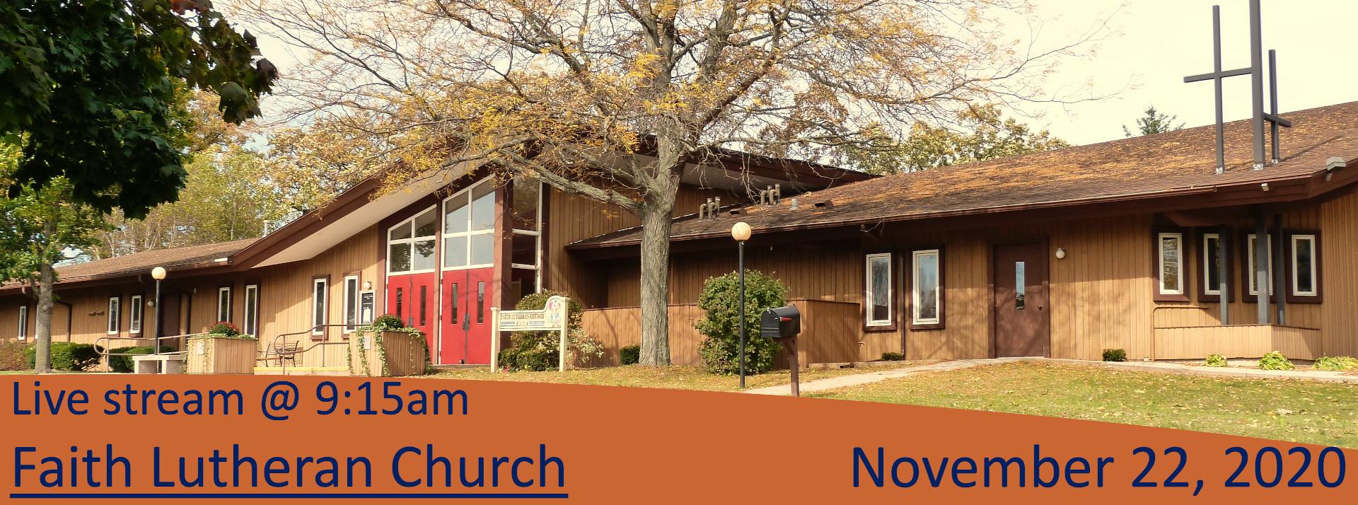 Live Stream for Christ the King Sunday, November 22
