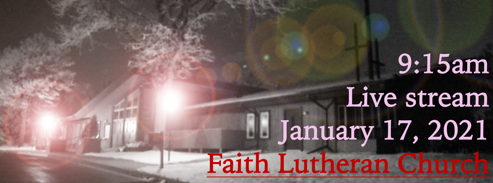 Live Stream YT or FB for the Second Sunday After Epiphany, January 17