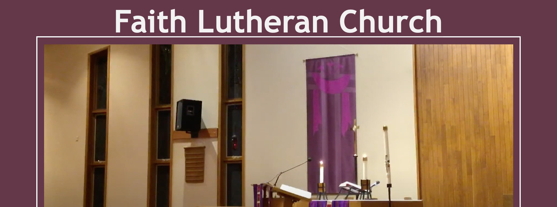 Live Stream YT or FB for the First Sunday in Lent, February 21