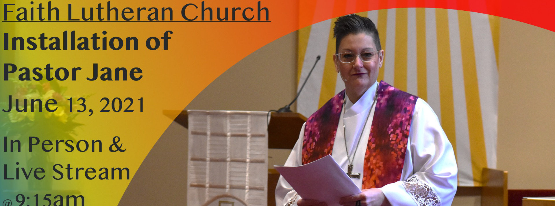 Pastor Jane's Installation Service
